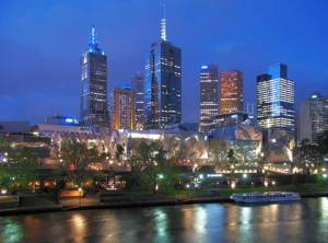 My beloved Melbourne at night