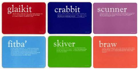 Scots dialect tablemats
